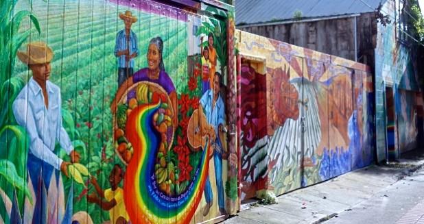 Balmy Alley Rainbow Mural