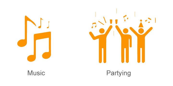 Partying and Music