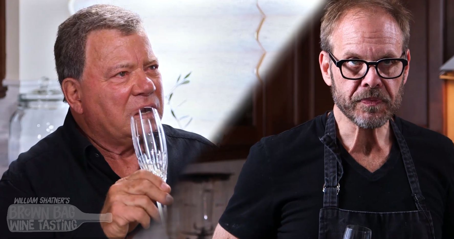 Alton Brown on Brown Bag Wine Tasting with William Shatner