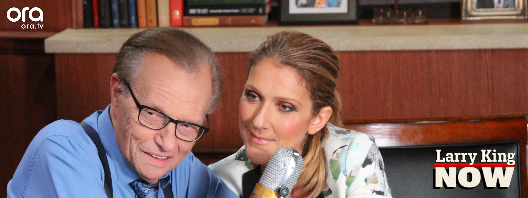Celine Dion gets interviewed by Larry King