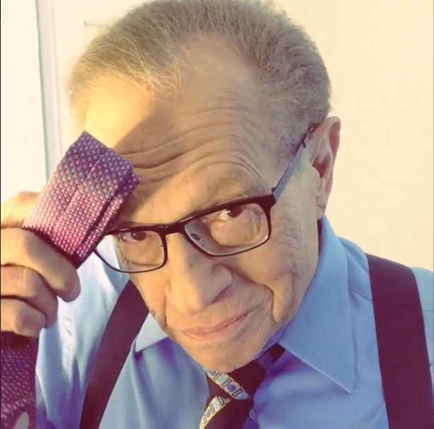 Click the photo to watch Daily ReHash's exclusive video parody of #StarbucksDrakeHands with Larry King!