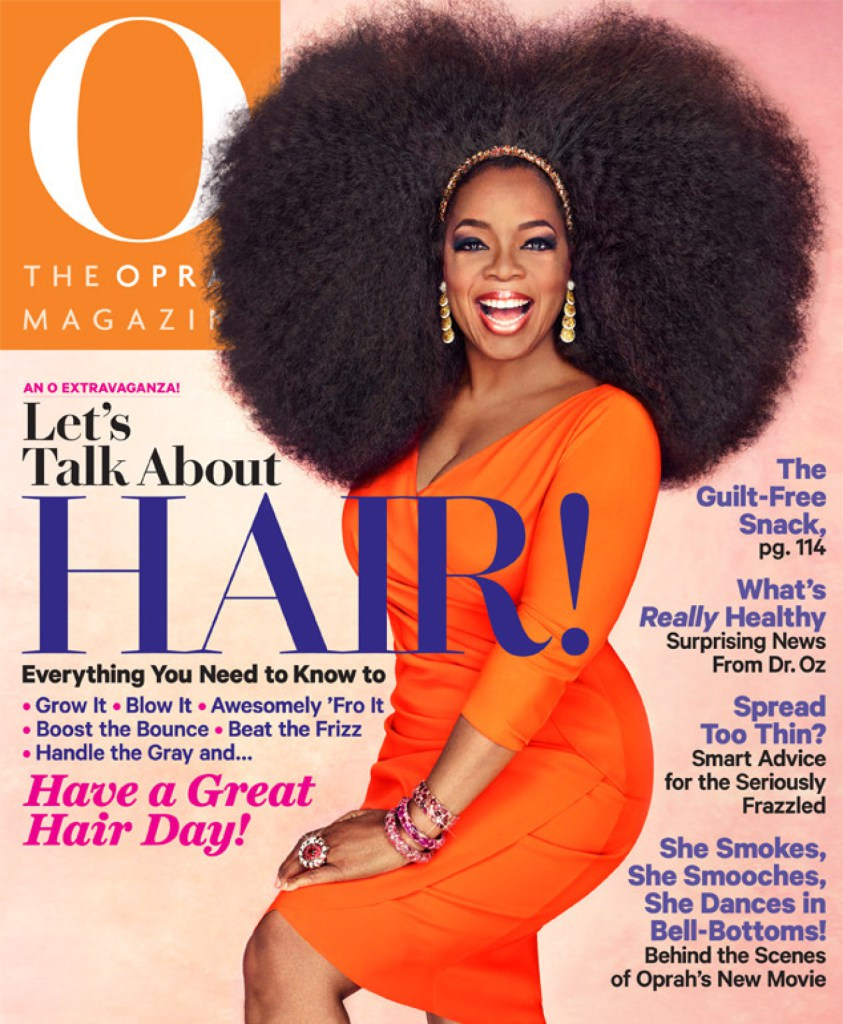 Oprah's Afro Wig On O Magazine's September 2013