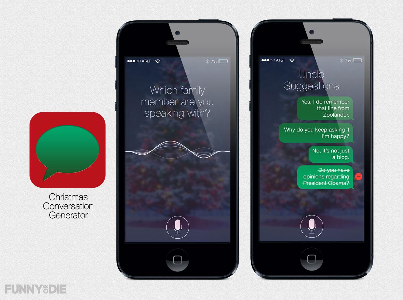Christmas Conversation Generator