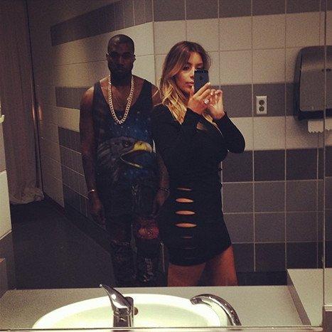 Kim Kanye Selfie