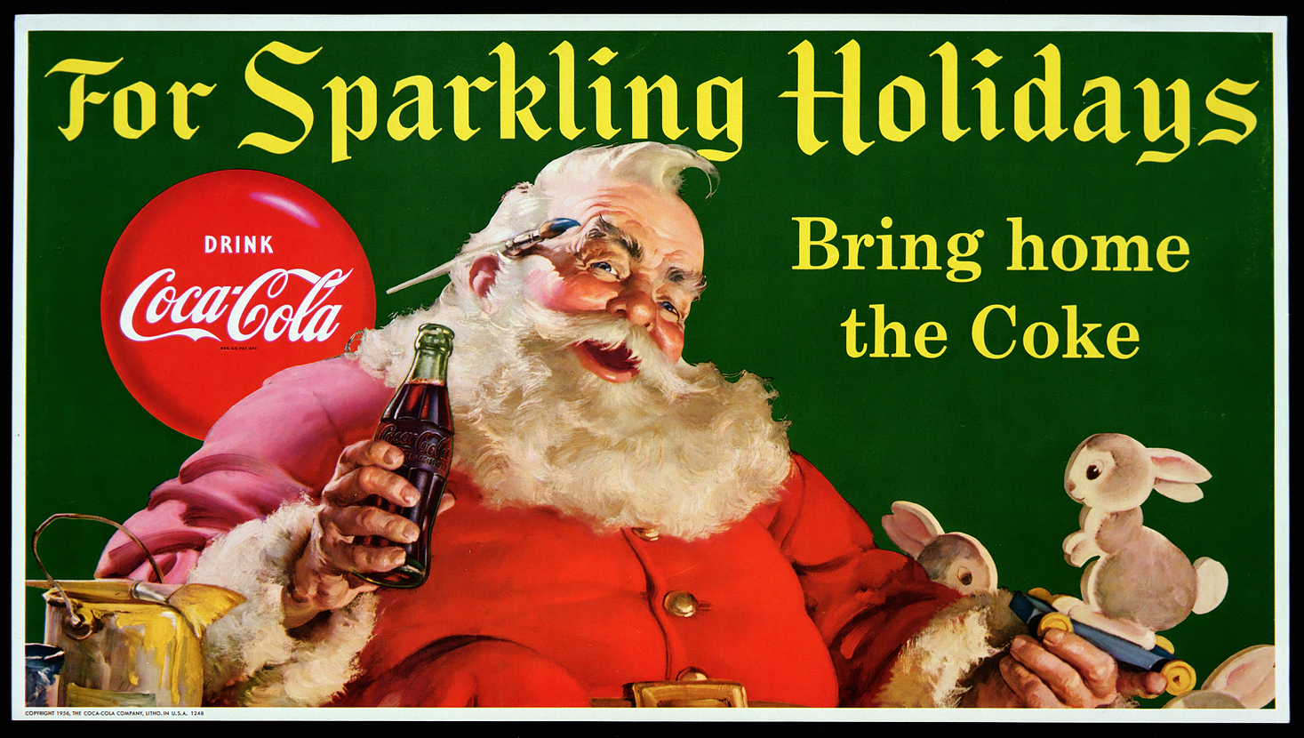 Coke Christmas Ads.Merry Christmas From Coca Cola Throughout The Years