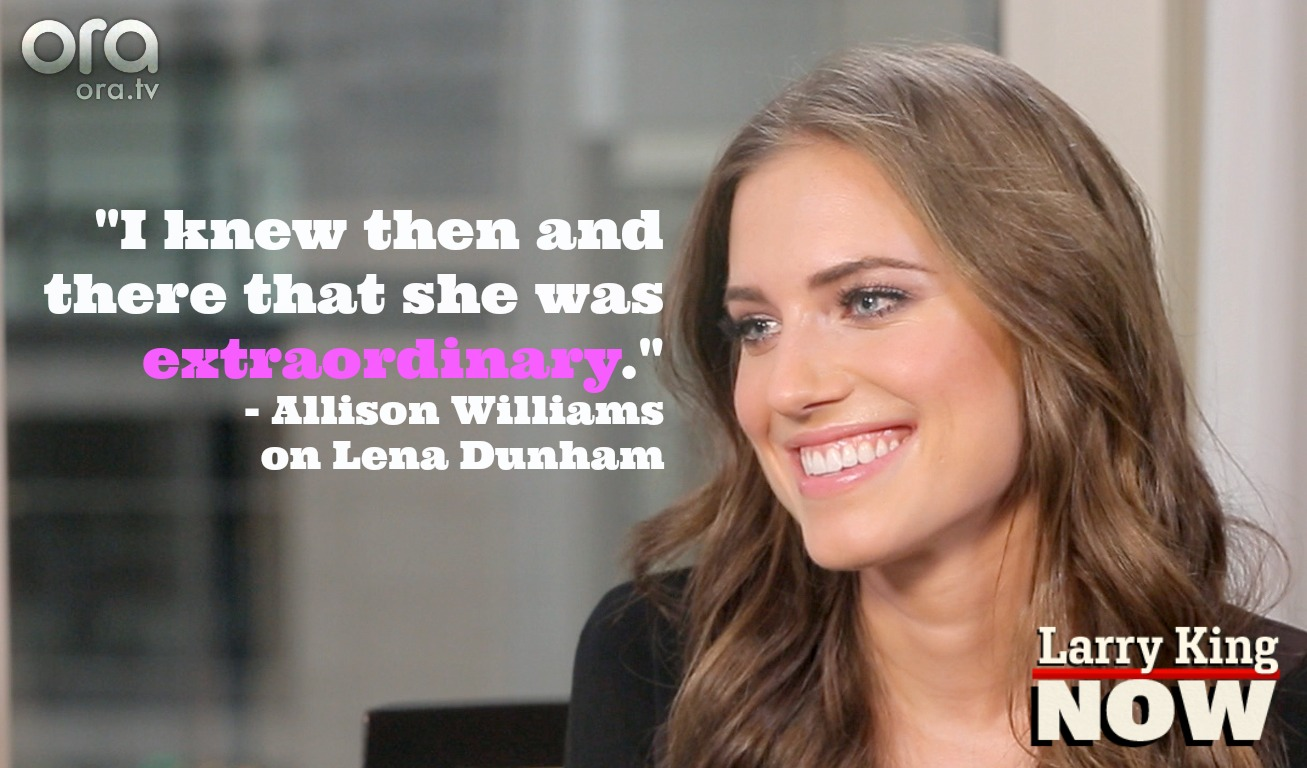 Allison Williams on Larry King Now