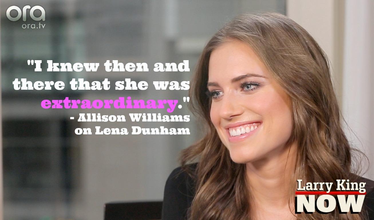 Allison Williams on Larry King Now