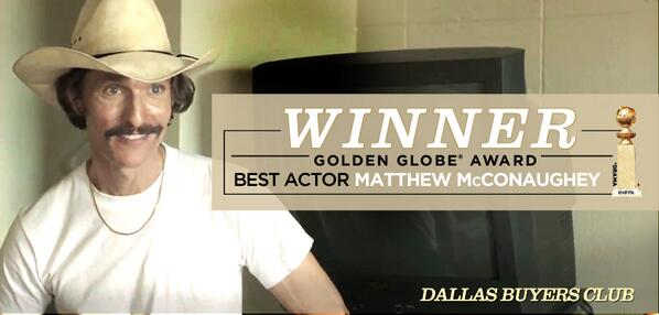 Golden Globe McConaughey on 'Dallas Buyers Club'