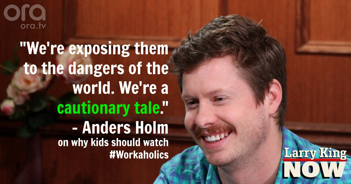 Workaholic Anders Holm on Larry King Now