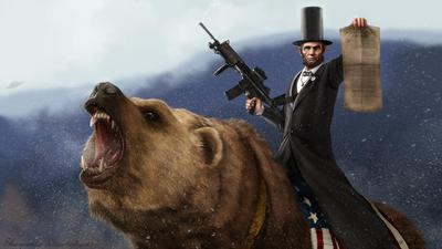 bear riding constitution armed lincoln 'murica