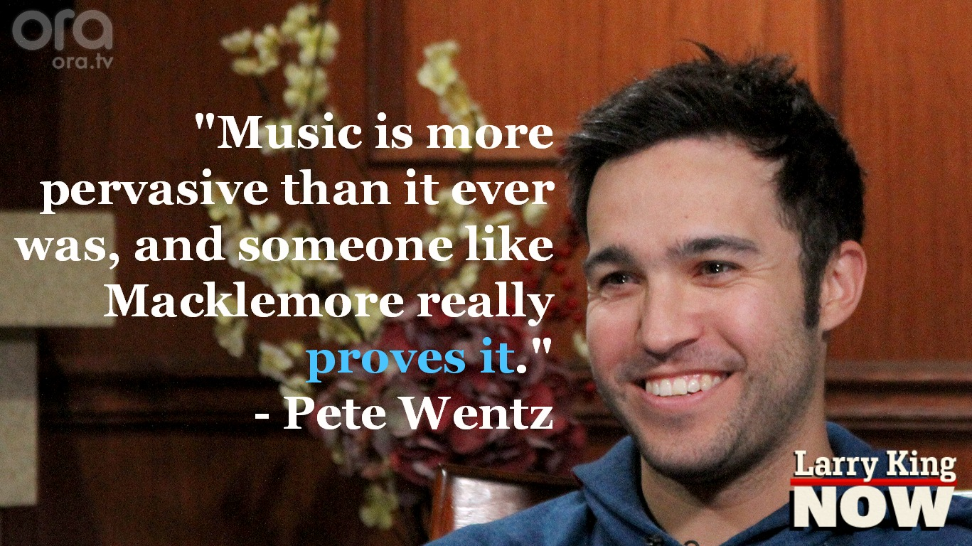 Pete Wentz on Larry King Now