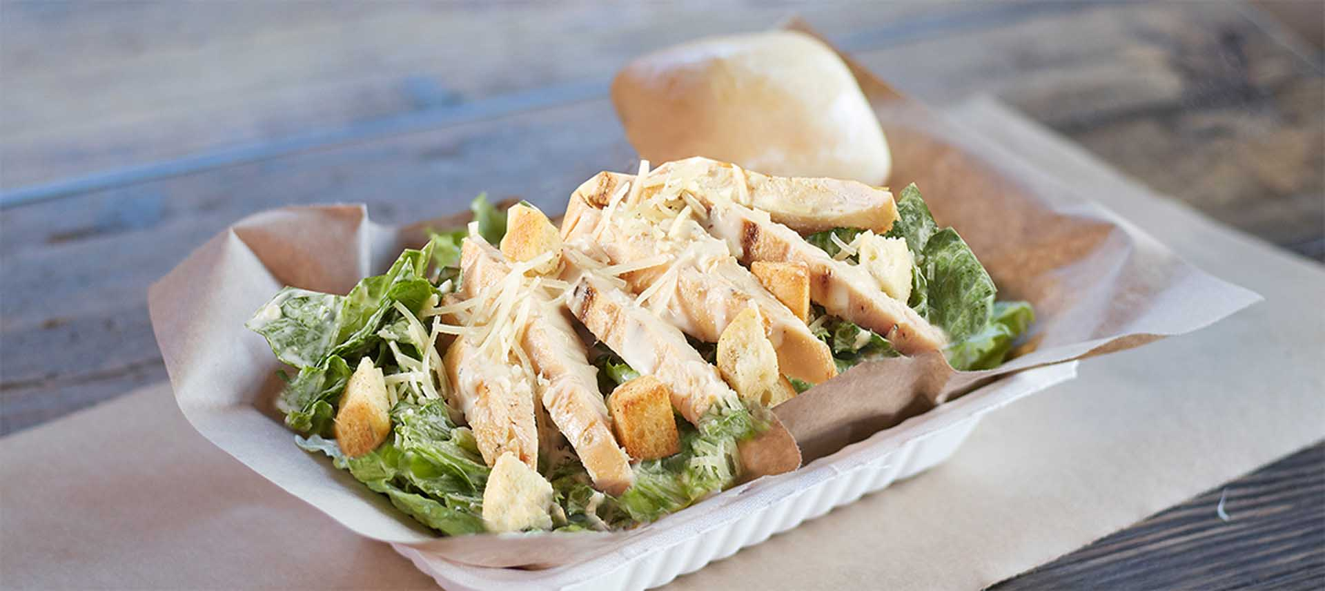 Caesar Salad with Meat