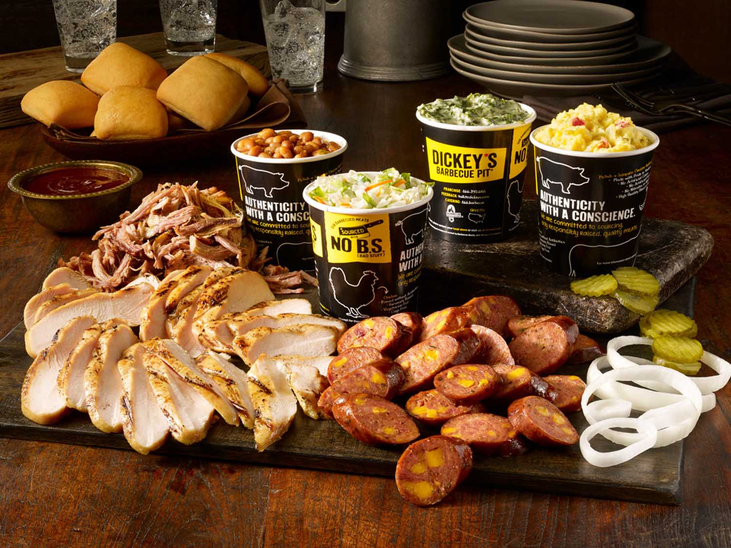 Score this Football Season with Double Your Sides at Dickey's