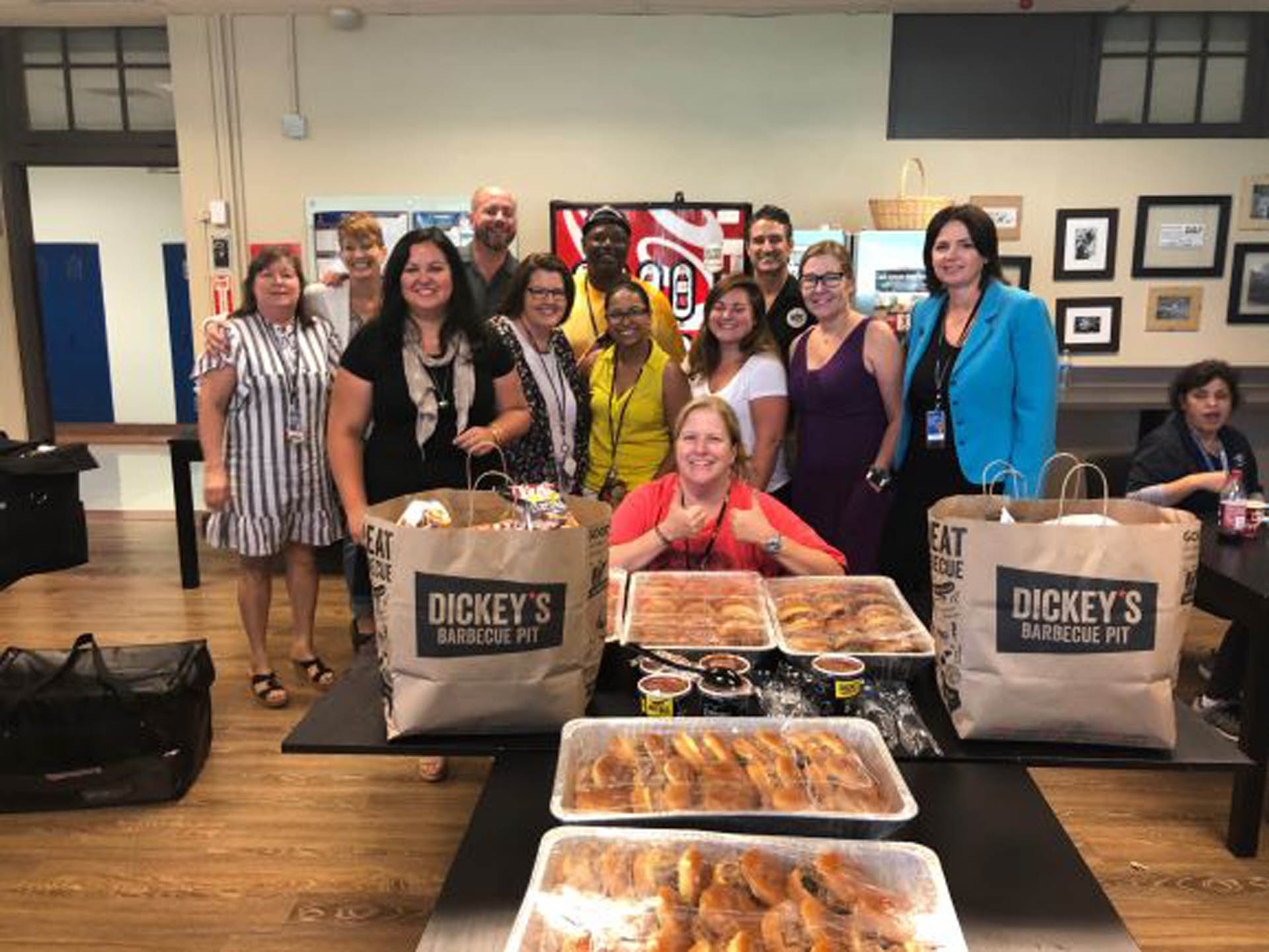 Dickey's Barbecue Pit Serves Up Lunch for Teachers