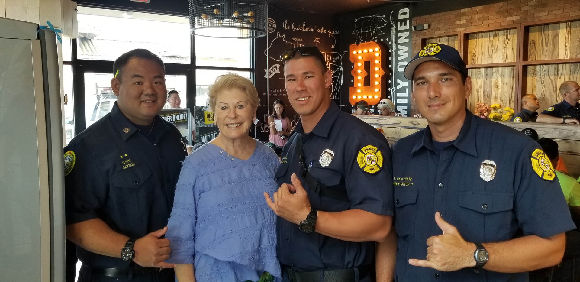 "Restaurant News: Dickey's Says ""Mahalo"" to Local First Responders"