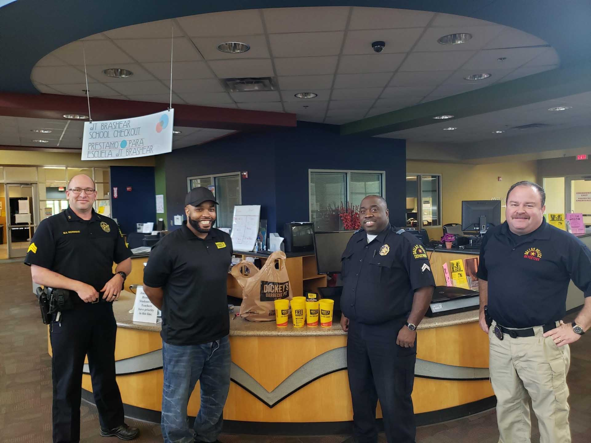 Dickey's Barbecue Pit: Supporting First Responders Stationed at Dallas Public Library