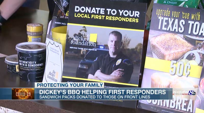 Dickey's Barbecue Pit helps feed first responders during COVID-19