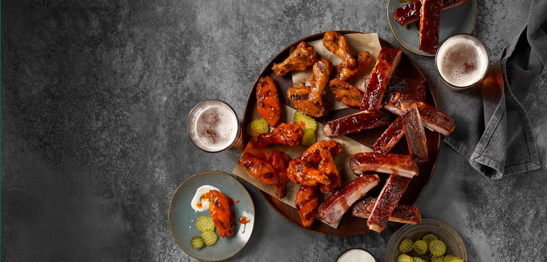 Pit-Smoked Ribs & Wings Delivery