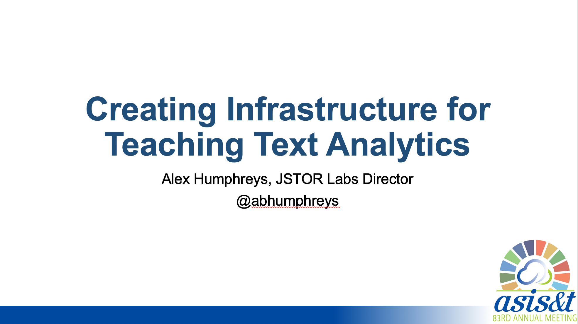 Creating Infrastructure for Teaching Text Analytics