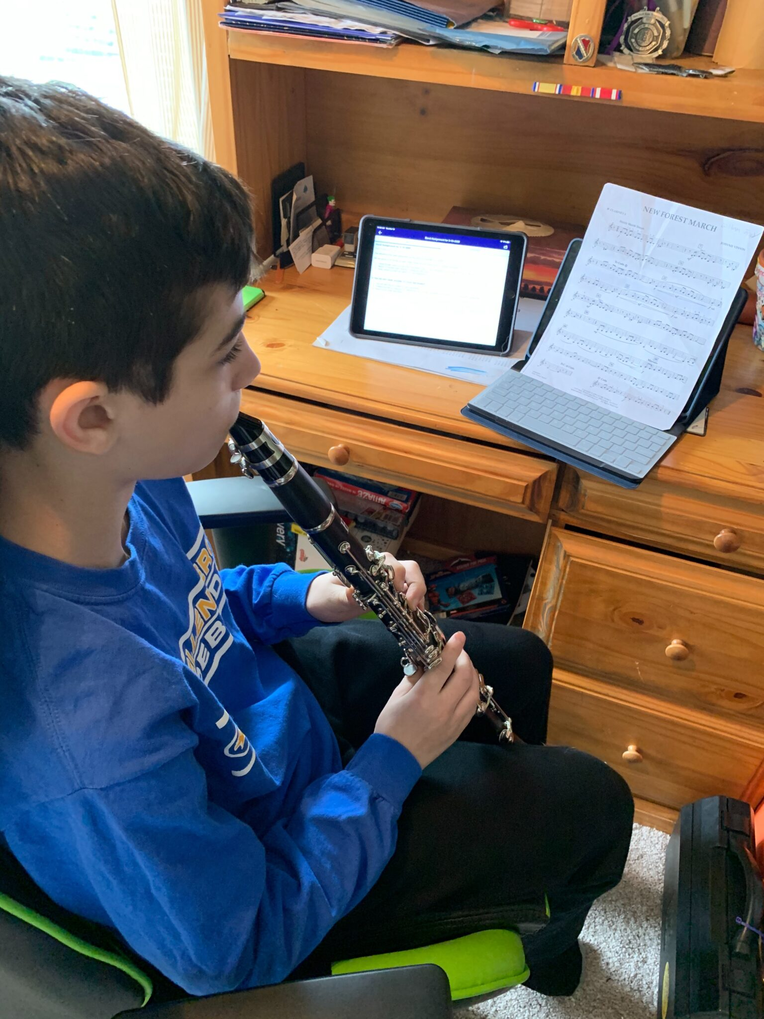 William Fried '25 completes his assignment for Praetorian Band