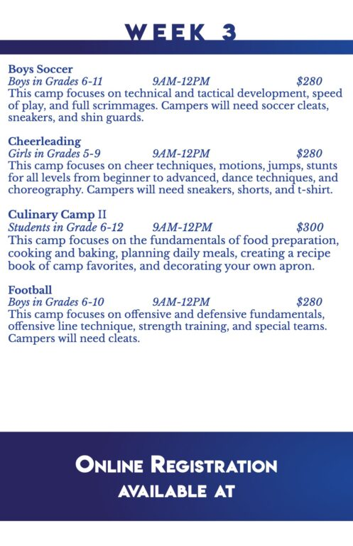 Summer Camps Printed Handout 2021 for Print 6-6