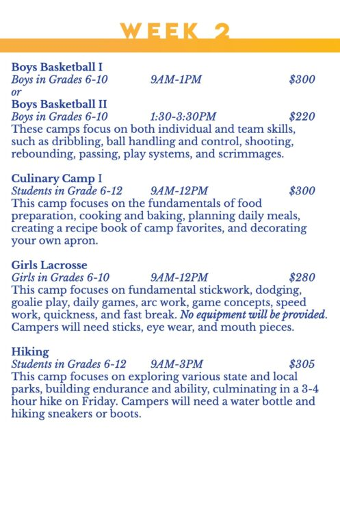 Summer Camps Printed Handout 2021 for Print 4-4