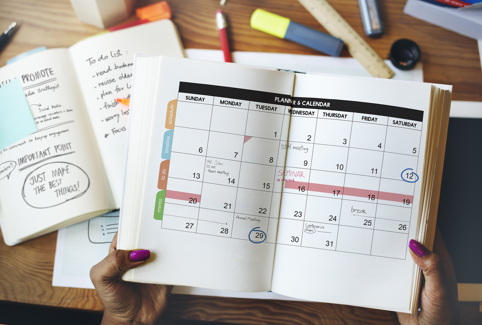 Cleaning Chore List Calendar