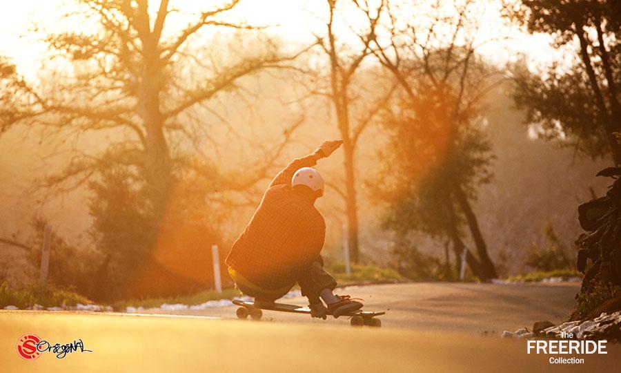 The Freeride 41 Wconcave Longboard By Original Skateboards