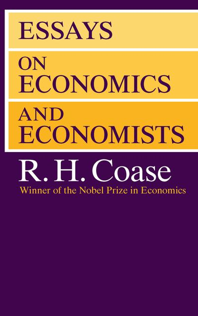 Buy Essays on Economics and Economists at Amazon