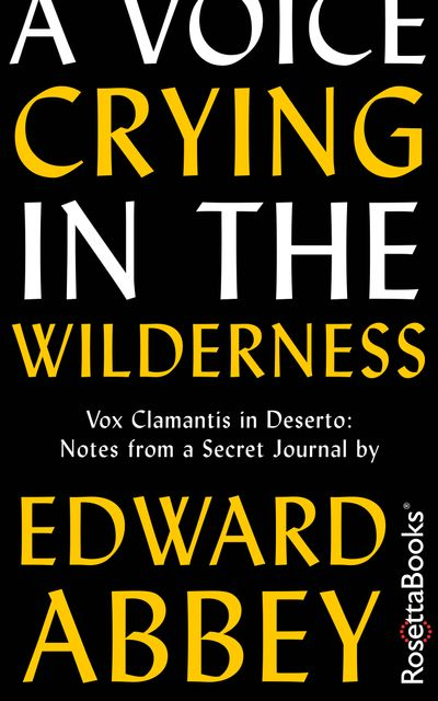 Buy A Voice Crying in the Wilderness at Amazon