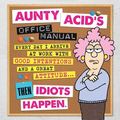Buy Aunty Acid's Office Manual at Amazon