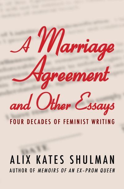 Buy A Marriage Agreement and Other Essays at Amazon