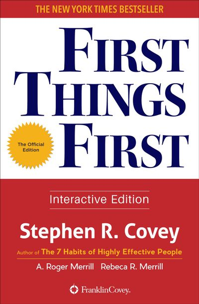 Buy First Things First at Amazon