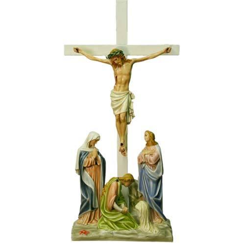 Jesus Is Crucified w/cross Station # 12