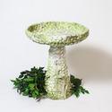 Stone And Flower Birdbath 22