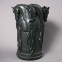 Six Stallion Vase 12 H