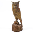 Owl Carved 18