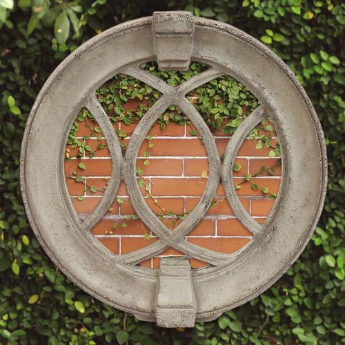 Laced Round Frame Mirror