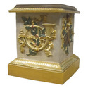 Decorative Horn Pedestal 23""