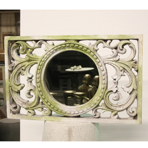 SCROLL WORK FRAME WITH MIRROR