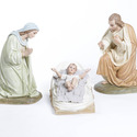 Mary,Joseph & Baby In Manger