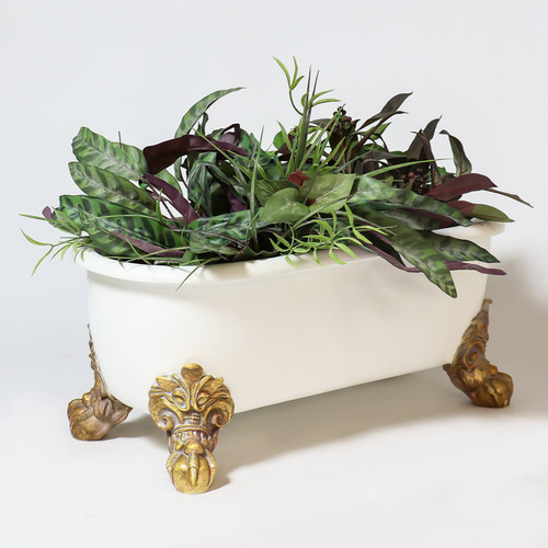Antique Bathtub Planter