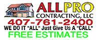 Website for AllPro Contracting, LLC