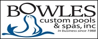 Website for Bowles Custom Pools & Spas, Inc.