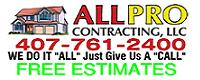 Website for AllPro Contracting, LLC