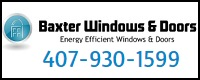 Website for Baxter Windows, LLC