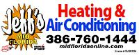 Website for Jeff's Mid Florida Heating & Air, Inc.