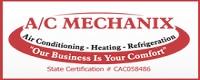 Website for A C Mechanix Heat & Air, Inc.