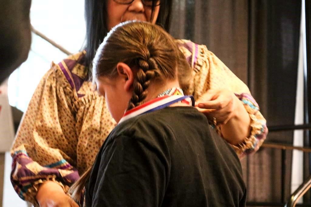 Language Fair boy medal