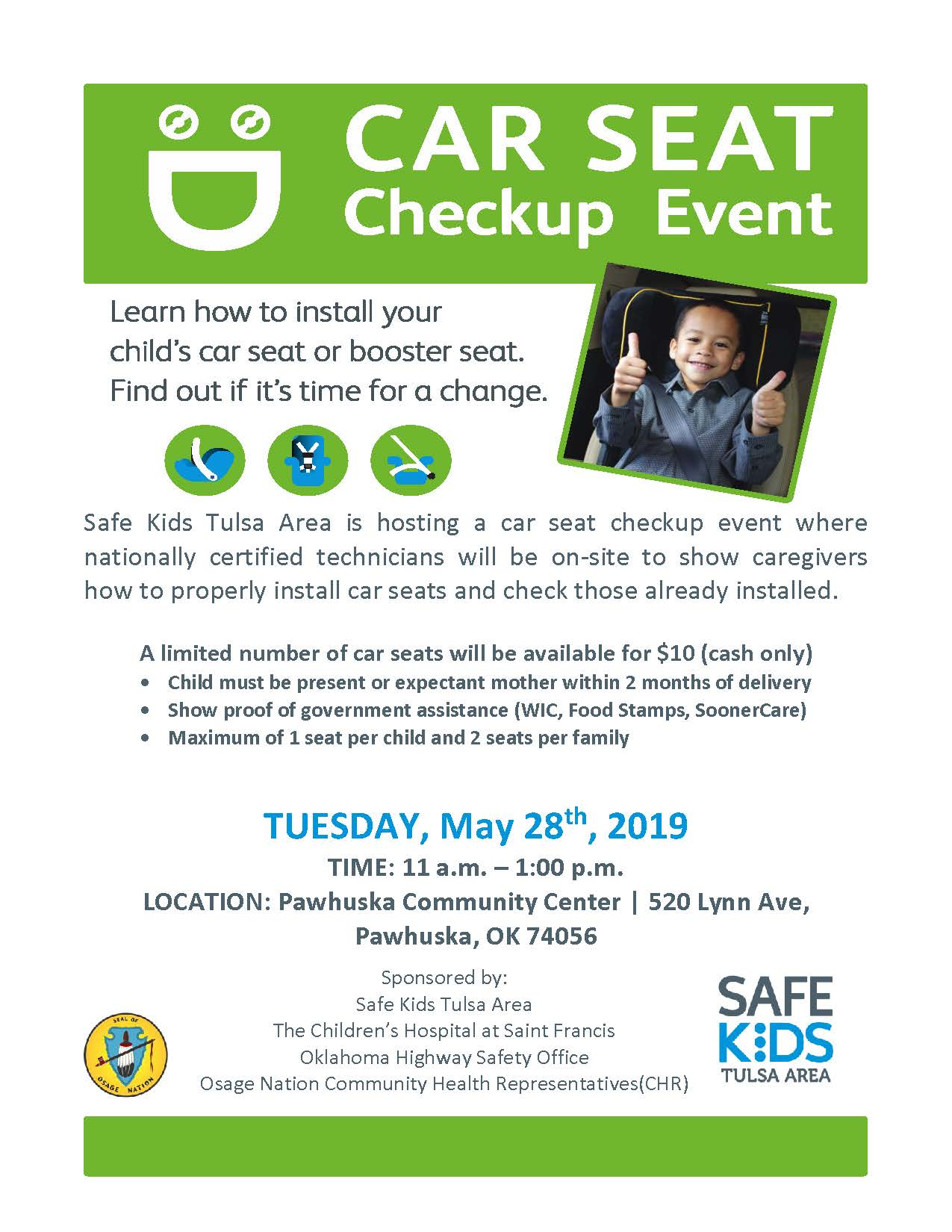 Car Seat Checkup Event Flyer